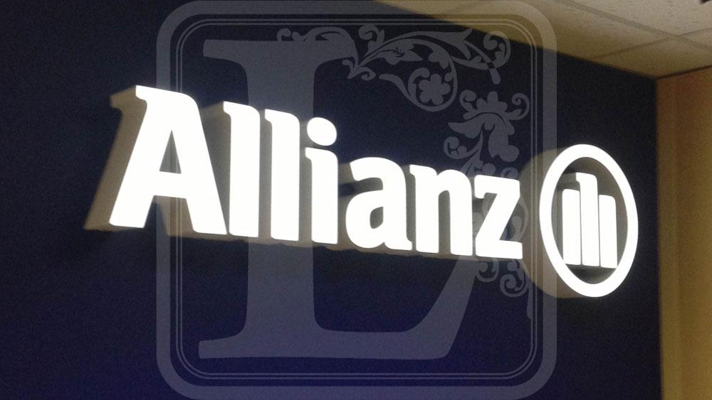 объемные световые буквы альянс воронеж