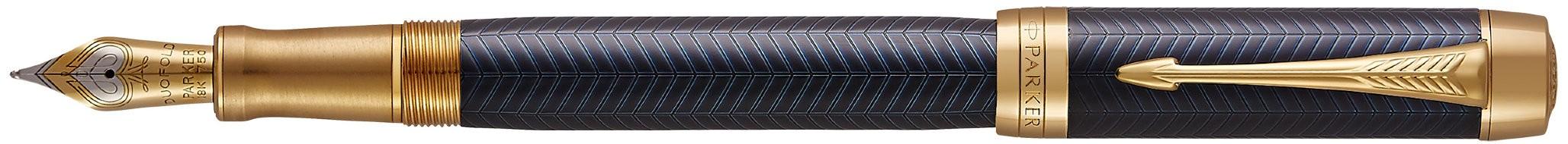 Перьевая ручка Parker Duofold F307 Prestige Centennial Blue Chevron GT в Воронеже