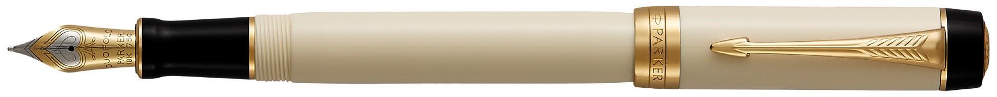 Перьевая ручка Parker Duofold F77 Centennial Ivory/Black GT в Воронеже