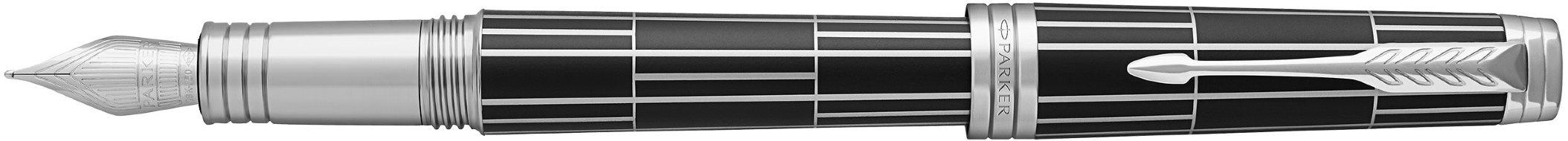 Перьевая ручка Parker Premier F565 Luxury Black CT, перо F, подарочная коробка в Воронеже