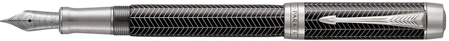 Перьевая ручка Parker Duofold Prestige Centennial F307, Black Chevron CT в Воронеже