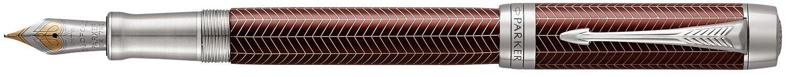 Перьевая ручка Parker Duofold Prestige Centennial F307, Burgundy Chevron CT в Воронеже