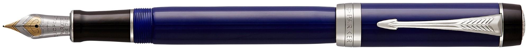 Перьевая ручка Parker Duofold F77 Centennial Blue/Black CT в Воронеже