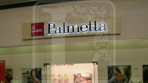 плоские буквы palmetta с контражурной подсветкой в воронеже